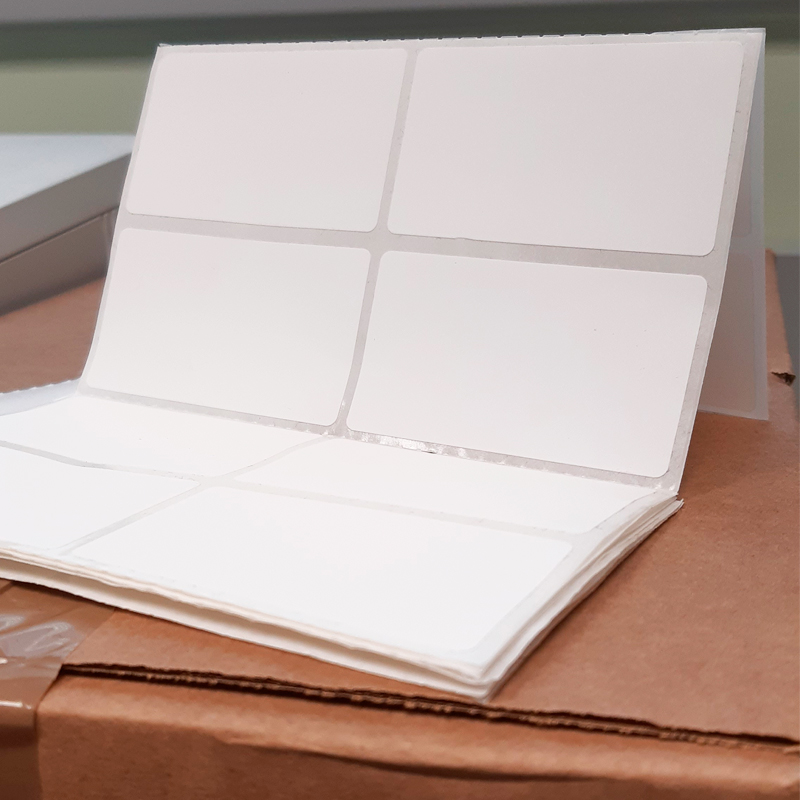 Oferta Etiquetas adhesivas blancas para impresión térmica con descuento
